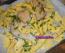 Pesce spada con patate al  forno