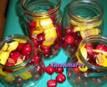 Ciliegie con alcool cannella limone chiodi di garofano