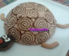 Torta tartaruga  al tiramisu per bambini di Eli