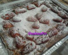 Crostata alla crema cotta di Luca Montersino fragole e ananas