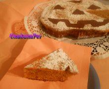torta morbida di zucca e  nocciole per Halloween