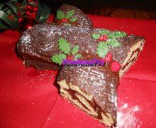 Tronchetto di Natale con nutella  (salame del re)