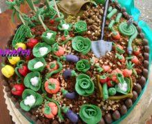 Torta Orto pdz per i 90 anni di nonno ( torta mimosa al cioccolato)