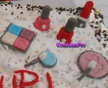 torta make up in pdz + borsetta (torta millefoglie)