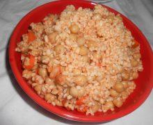 Minestra di Bulgur con ceci e carote