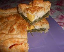Torta Pasqualina semplice e veloce (rustico di ricotta bietole e uova per Pasqua) BUONA PASQUA !!