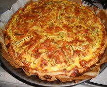 RUSTICO – TORTA SALATA DI ZUCCHINE PROSCIUTTO COTTO E MOZZARELLA