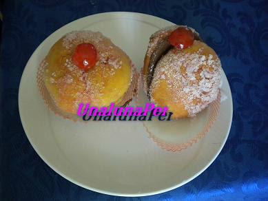 Pesche dolci con nutella (fatte con zia P.)